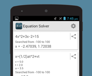 Equation Solver - Android