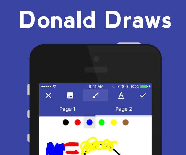 Donald Draws - iOS and Android app